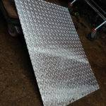 galvanised wear plate