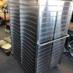 stainless steel post sorting trolly
